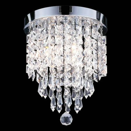 UL Listed 3-Light Crystal Chandelier Ceiling Fixture (Augusta Ceiling Chandelier)