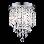 UL Listed 3-Light Crystal Chandelier Ceiling Fixture Pendant