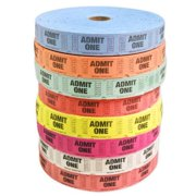 Kipp Brothers Red Single Tickets (Roll of 2,000) Carnival Supplies