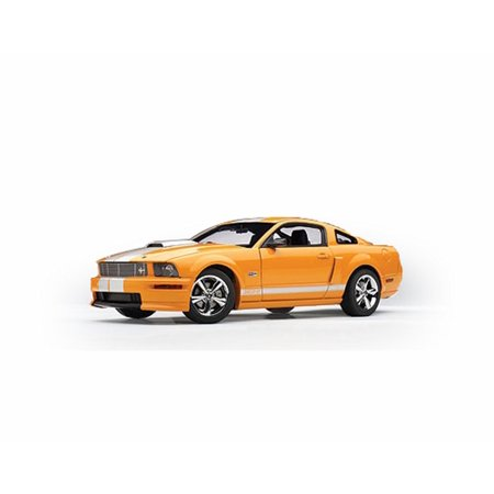2008 Shelby GT, Orange w/ Silver stripes - Shelby Legend Series  SC291OR - 1/18 Scale Diecast Model Toy Car