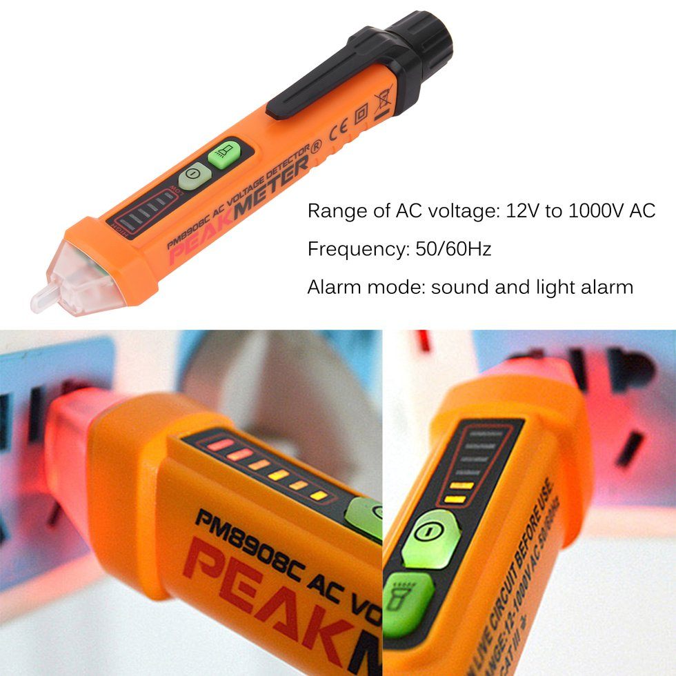 Multi-Functional Test Pencil Non-Contact Voltage Detector 12V -1000V AC Voltage Tester Pen With LED Electric Indicator