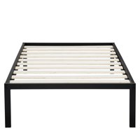 Sleeplanner 14 Inch Platform Metal Bed Frame / Wooden Slat Support Twin Size