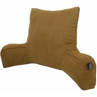 Faux Suede Oversized Backrest Pillow, Brown