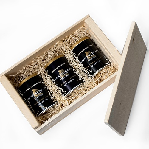 Gourmet Black Label Nuts in Wooden Gift Box