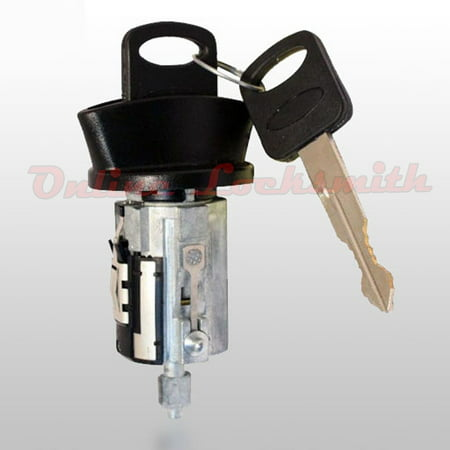 (New Mercury Cougar 1997-1998 8-Cuts Coded Ignition Switch Cylinder w Two Keys)