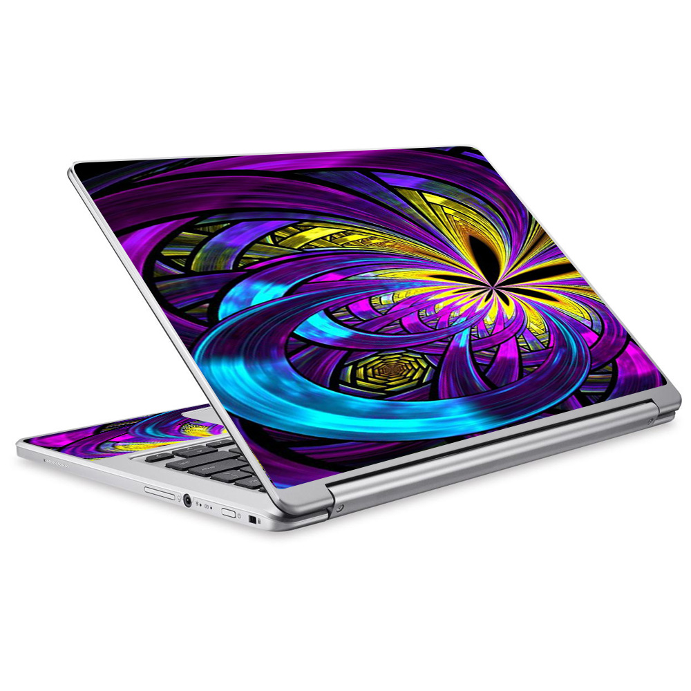 Skins Decals For Acer Chromebook R13 Laptop Vinyl Wrap / Purple Beautiful Design