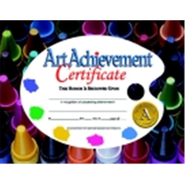 Hayes 8.5 x 11 in. Art Achievement Certificate, Pack 30
