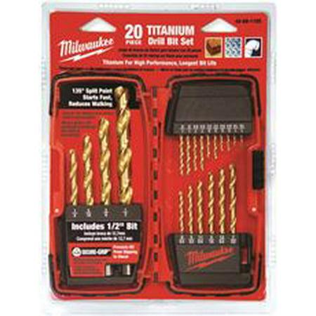 Milwaukee Titanium Drill Bit Set, 20 Piece ()