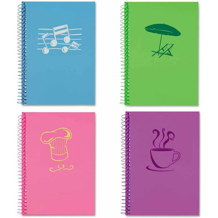 "Roaring Spring Lifenotes Notebook, College Rule, 7"" x 5"", 80 Sheets, Assorted Covers, 4-Pack"