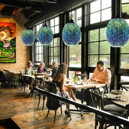 Creativity 3D Glass Fireworks LED Ceiling Lights Modern Chandelier  Glass Pendant Lamp Fixture for Kitchen Hallway Bathroom Bar