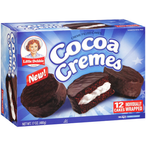 Little Debbie Snacks Cocoa Cremes Creme Filled Cakes, 12ct