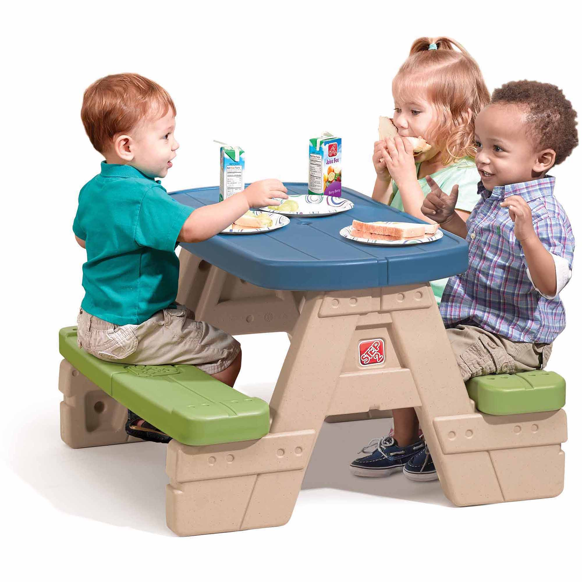 Step2 Sit and Play Junior Picnic Table with Removable Umbrella