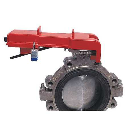 HONEYWELL BS04R Butterfly Valve Lockout, Red