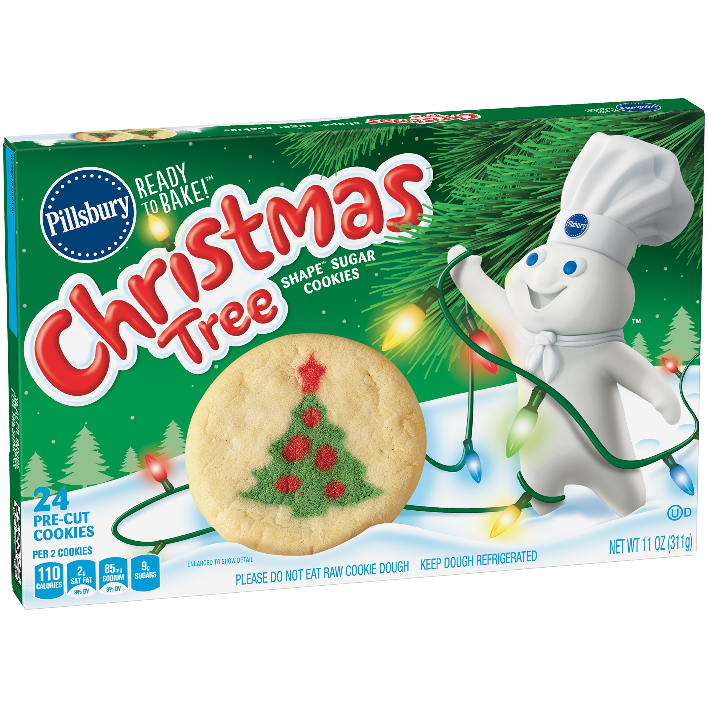 Pillsbury Ready to Bake!™ Christmas Tree Shape™ Sugar Cookies 24 ...
