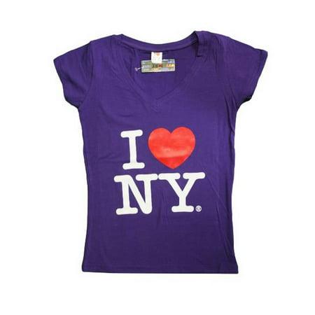 I Love NY New York Kids Short Sleeve Screen Print Heart T-Shirt Navy Large (1...](I Heart Ny Store)