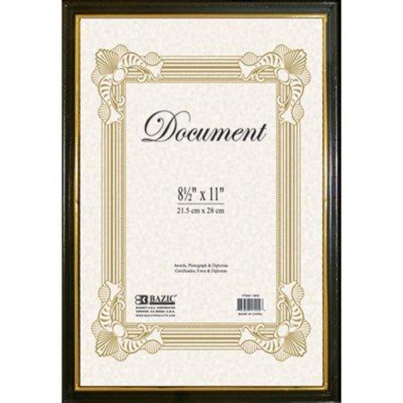 BAZIC 8.5 X 11 Document Frame w/ Gold Border Gold Border Photo Card