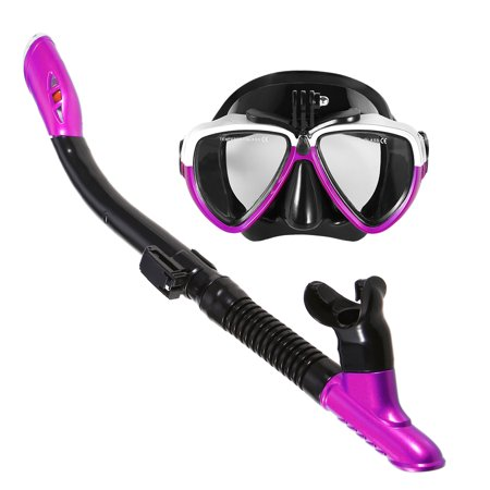 Lixada Snorkeling Mask Snorkel Set Anti-fog Swimming Diving Goggles with Easy Breath Dry Snorkel (Best Snorkel Set For The Money)