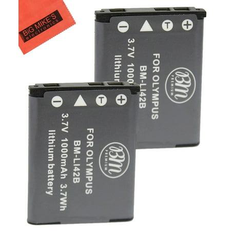 BM Premium 2-Pack Of LI-42B Batteries for Olympus Stylus 1040, 1050W, 1060, 1070, 1200, 7000, 7010, 7020, 7030, 7040, Tough 3000, TG-310, TG-320, VR310, VR320, VR330 Digital (Olympus Li 42b Li Ion Rechargeable Battery)