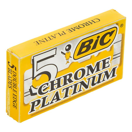 BIC Chrome Platinum Double Edge Safety Razor Blades, 5 Count + Cat Line Makeup Tutorial - Makeup Tutorial Halloween