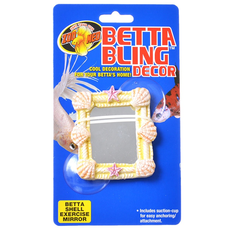 Zoo Med Betta Bling Decor - Shell Exercise Mirror 1 Pack