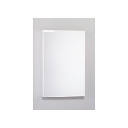 Robern PLM2030WB 19 1/4in Reversible Hinged Single Door Mirrored Medicine Cabinet