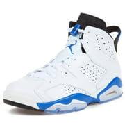 Nike Mens Air Jordan 6 Retro White/Sport Blue 384664-107