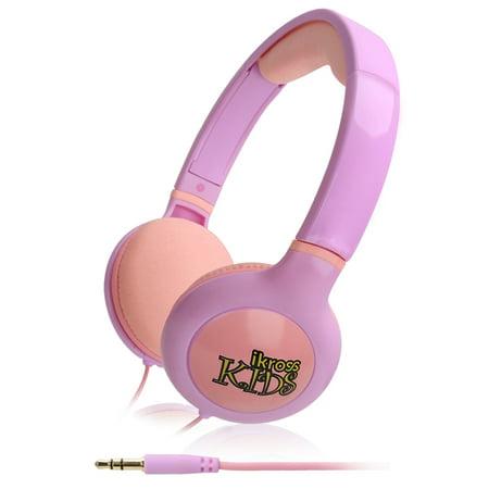 Kids Headphones, iKross Comfort Design Volume Limiting Soft Over Ear Children's Headphone Headset – Purple /