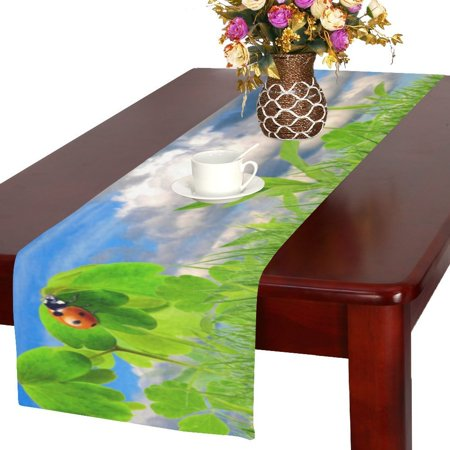 MYPOP Fresh Spring Table Runner 16x72 inch For Dinner Parties Events Home Decor](Spring Table Runners)