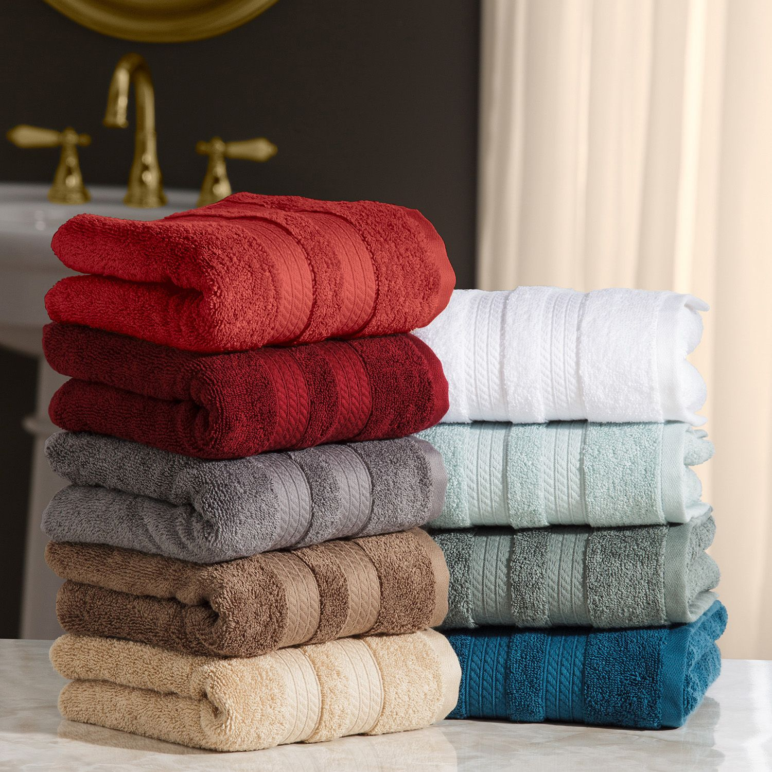 """100% Cotton Luxury Hand Towel 16"""" x 30"""" (Fossil)"""
