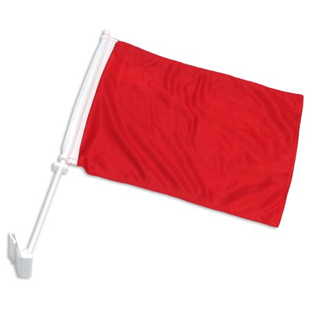 Solid Red Car Flag