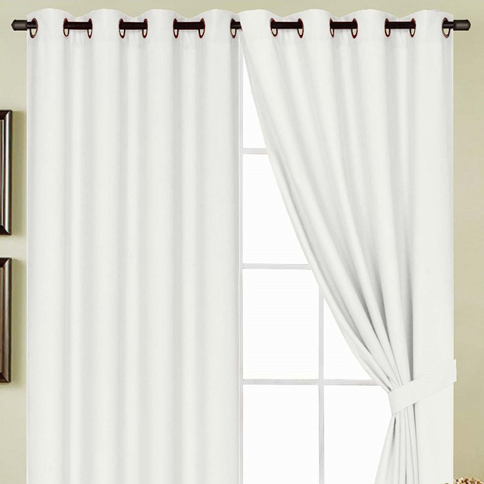 Kennedy 54 x 84 in. Grommet Single Curtain Panel, White by Ramallah Trading Company, Inc.