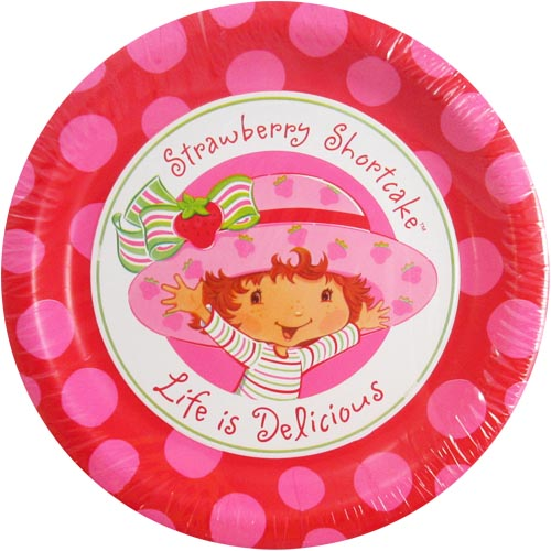 Strawberry Shortcake Large Paper Plates (8ct)  sc 1 st  Walmart : strawberry paper plates - pezcame.com