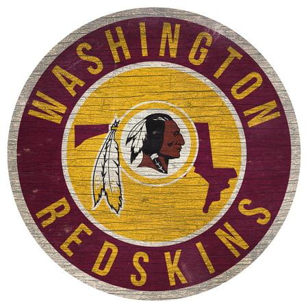 Washington Redskins 12'' x 12'' State Circle Sign - No Size