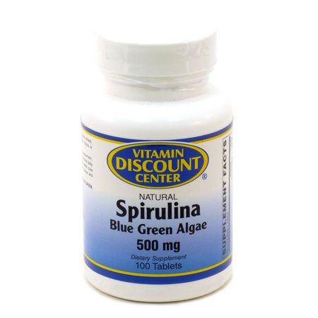 Spirulina 500 mg par 100 Comprimés Vitamin Discount Center