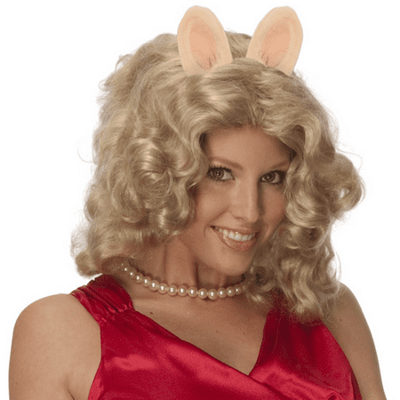 Miss Piggy Curly Blonde Wig w/ Ears & Pig Nose Costume Accessory Kit The Muppets - Muppet Animal Costume