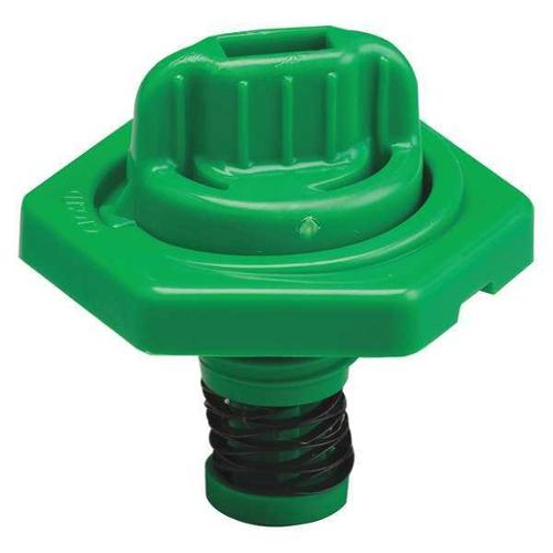TRICO 24014 Breather Vent,HDPE,1.50 in. H,Green G0379666