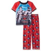 Justice League Boys' Batman Vs Superman 2 Piece Pant Set, Red, Size: 10/12