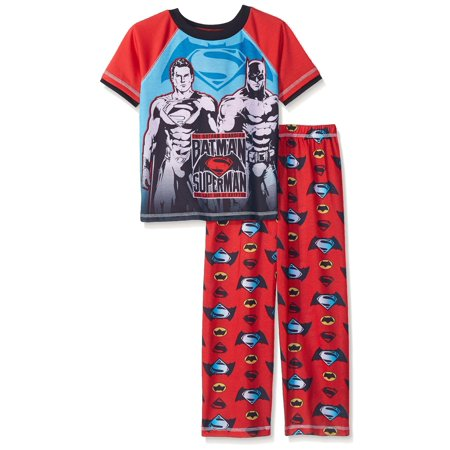 Justice League Boys' Batman Vs Superman 2 Piece Pant Set, Red, Size: 10/12