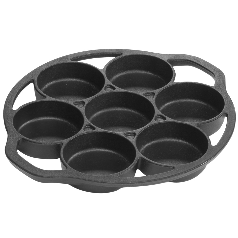Lodge Mini Cake Pan, Seasoned Cast Iron, L7B3, with durable handles
