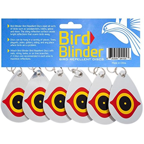 Bird Blinder - Bird Repellent Bundle - Scare Tape and 6 Deterrent Disks
