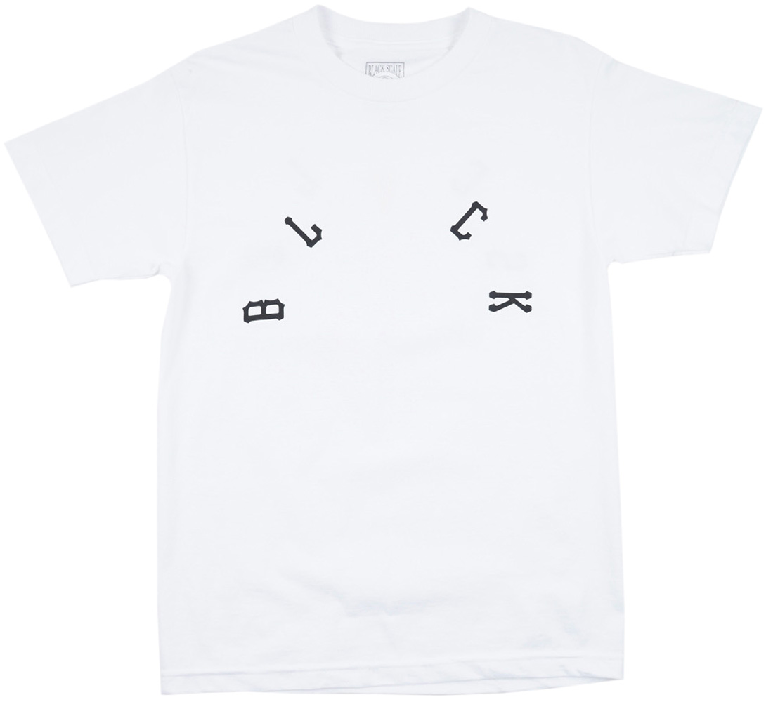 Black Scale Feather King T-Shirt White BLVCK SCVLE Mens