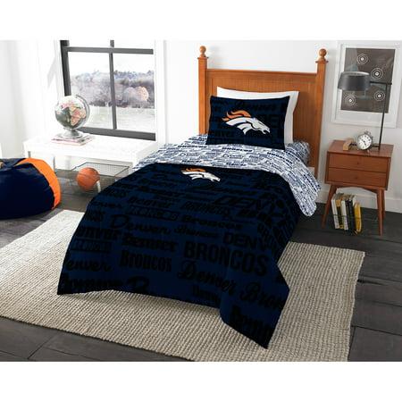 NFL Denver Broncos Bed in a Bag Complete Bedding Set for $<!---->