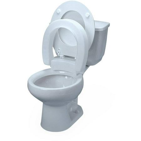 Medline Standard Raised Toilet Seat Without Arms