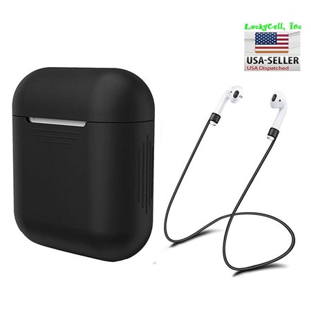 Silicone Protective Cover for Apple AirPods Charging Case + AirPod Strap - Black Silicone Protective Cover for Apple AirPods Charging Case + AirPod Strap - Black condition: New Color: BlackBrand: ProTeckMPN: Does Not ApplyType: Case Cover/ Fitted Case/Skin with LanyardMaterial: Silicone/Gel/RubberFeatures: Shockproof, Silicone AirPods Case+ AirPods Strap, Daite Shock,,Soft,Airpod Strap,Anti-Shock,Anti-Slip,Dirtproof,Folding Cover,Lanyard,LightweightCompatible Model: For Apple AirPods Earphone Charging Dock/ CaseCompatible Brand: For AppleBundle Listing: NoTo Fit: Apple AirPod Charging Dock, EarphonesDesign/Finish: Matte,Patterned,Pictorial,Plain