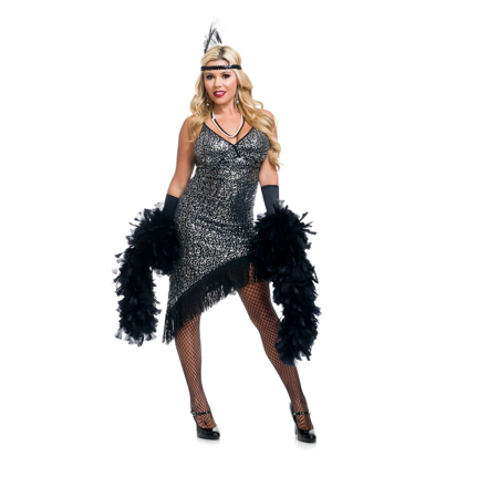 1920 Great Gatsby Dresses (1920's Silver Flapper Dress)