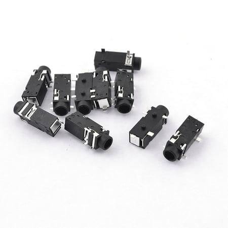 10 Pcs PCB Mount 5 Pin Media Player Jack 3.5mm Female Stereo Socket - image 1 of 1