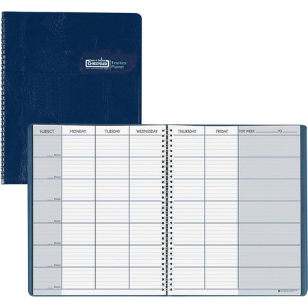 House of Doolittle, HOD50907, Teachers Planner, 1 Each, Blue (Doolittle Compact)