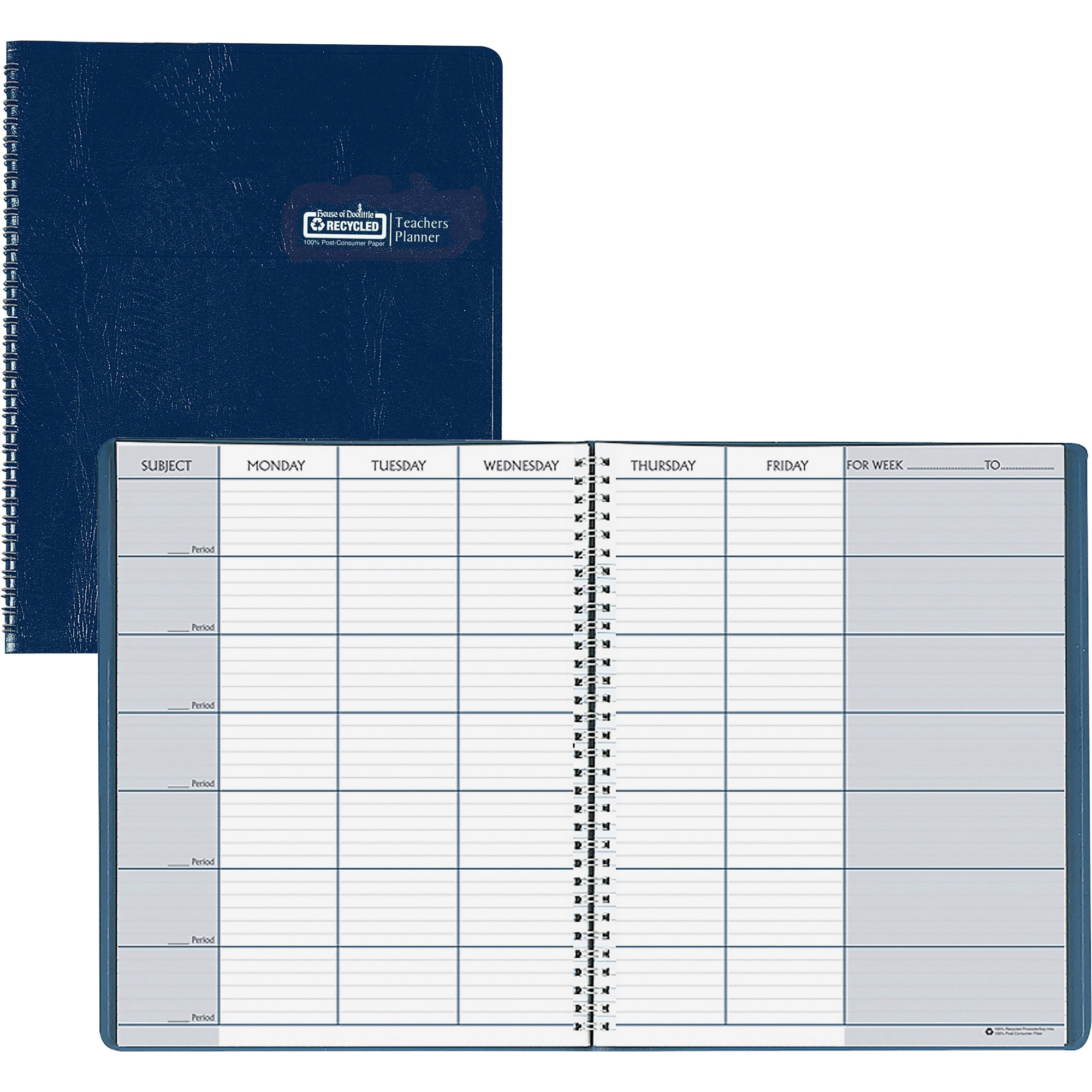 House of Doolittle Teachers Planner, Blue