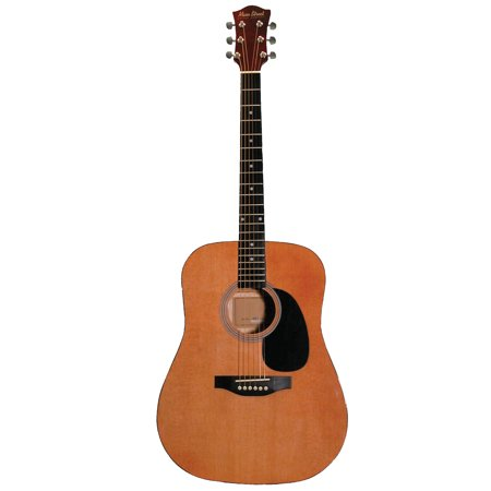 Main Street MA241 41-Inch Acoustic Dreadnought Guitar In Natural Finish