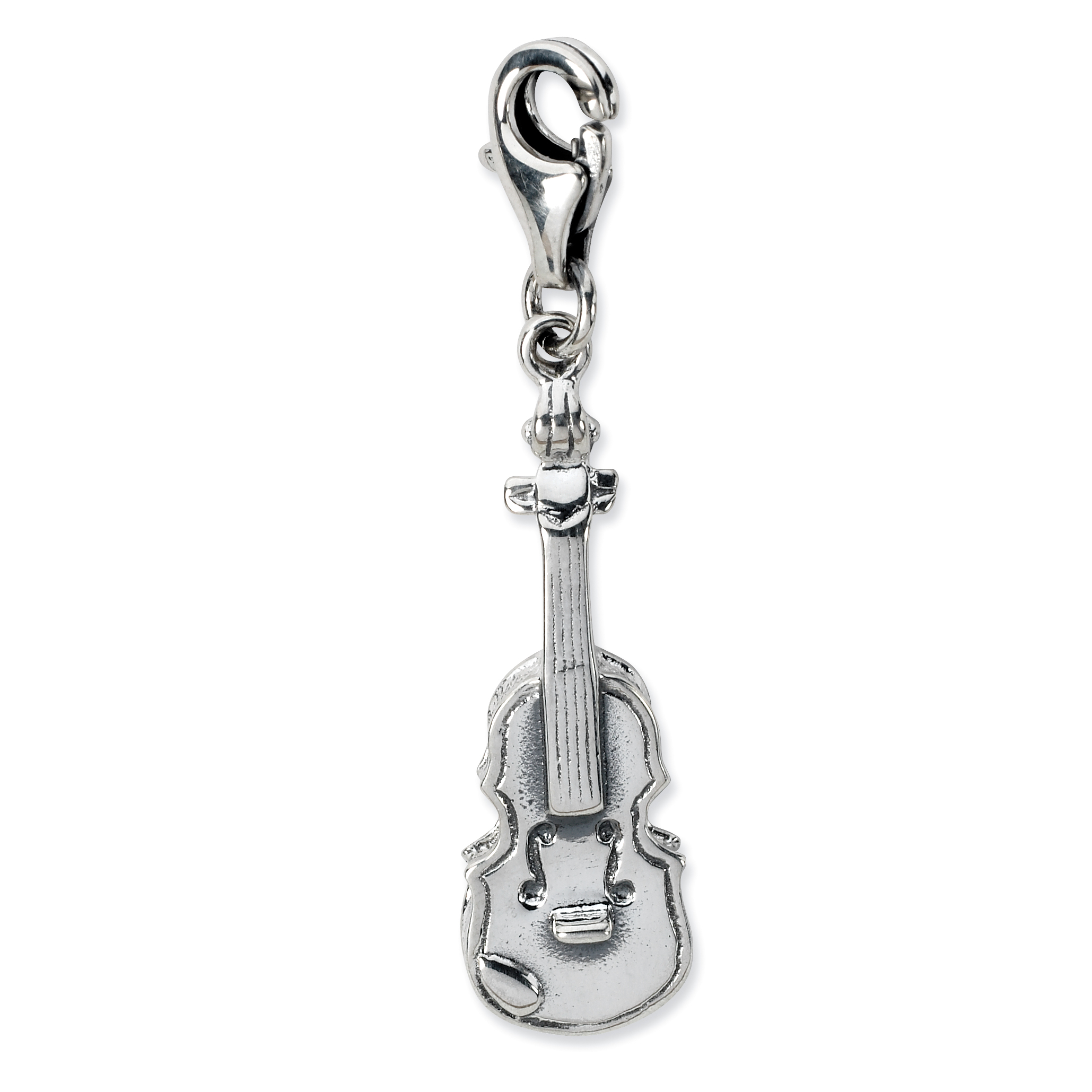 ICE CARATS 925 Sterling Silver 3 D Violin Lobster Clasp Pendant Charm Necklace Musical Fine Jewelry Ideal Gifts For Women Gift Set From Heart